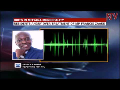 Mityana residents protest torture of their MP, Francis Zaake