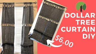 Shabby Chic Decor DIY | Dollar Tree Curtains