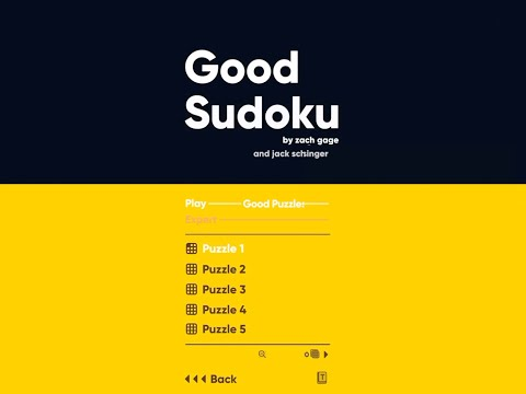 Zach Gage's Latest Puzzler Is Called Good Sudoku, and It Could Be Coming to Android
