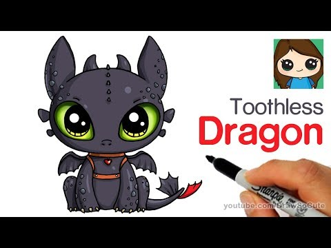 How to Draw a Cute Dragon Easy | Toothless