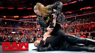 Ronda Rousey puts Stephanie McMahon in an Armbar: Raw April 9, 2018 - Video Youtube