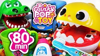 September 2018 TOP 10 Videos 80min Baby shark, Tayo, Pororo, baby doll #PinkyPopTOY