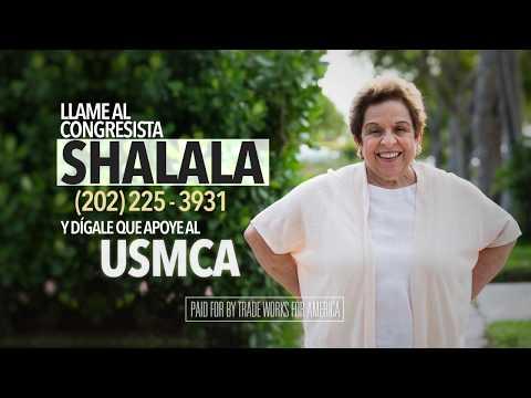 Dígale al congresista Shalala que vote sí sobre el USMCA