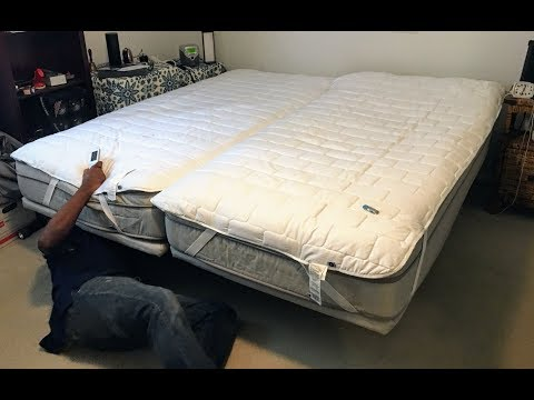 Slideshow of my Sleep Number P5 split king with FlexFit 2  Base,  Factory Install
