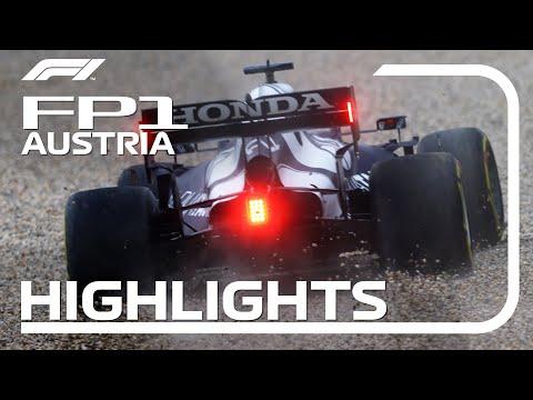 F1第9戦オーストリアGPのFP1ハイライト動画