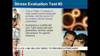 Stress Management Programs in the Workplace Begin with Workplace Training PPT on Stress
