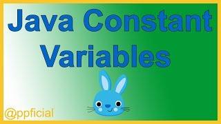 Java Constants - Constant Variables using Keyword Final - Java Tutorial - Appficial