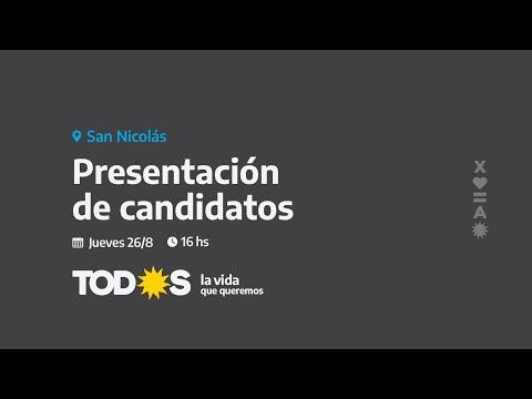 Presentación de los candidatos del FdT en San Nicolás.