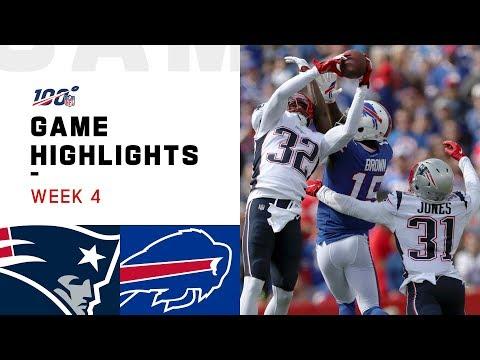 Patriots vs. Bills Week 4 Highlights | NFL 2019