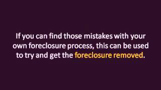 Remove Foreclosure From Credit Report