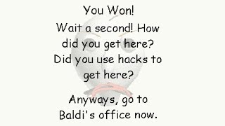 SECRET ENDING... Baldi's (yet another) Hardcore Basics