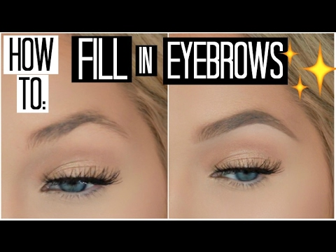 How to Fill in Your Eyebrows for Beginners | How to Shape your Eyebrows with Makeup