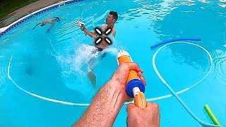 Behind the Scenes   NERF GUN GAME Super Soaker Edition!