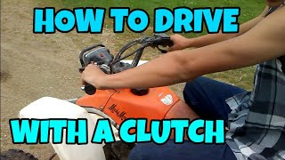 How to Drive a Clutch 4 Wheeler, ATV, Quad!! Easy and Learn Fast!! TechTip