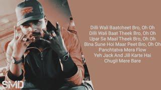 Dilli Wali Baatcheet (Lyrics) - Raftaar - YouTube