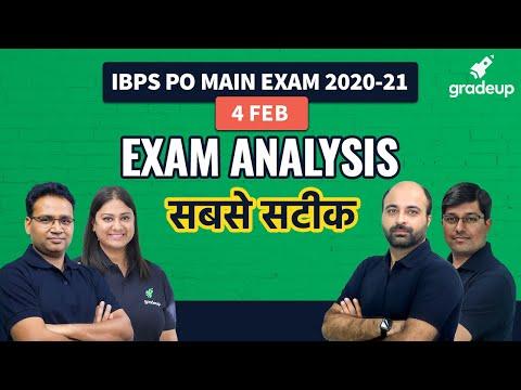 IBPS PO Main 2020-21 Exam Analysis | Difficulty Level, Answer Key ...
