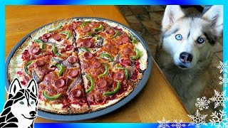 DIY PIZZA FOR DOGS | Dog Friendly Pizza | DIY Dog Treats | Snow Dogs Snacks 66