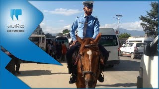 Kathmandu mounted squad (with video)