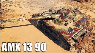 КОЛОБАНОВ на ЛТ AMX 13 90  🌟 World of Tanks лучший бой