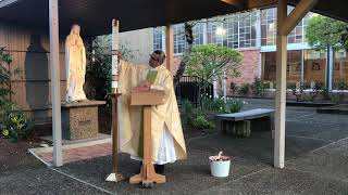 Apr. 11, 2020 - Easter Fire - Fr. Maxy D'Costa (video)