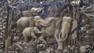 Изготовление объемной картины из тикового дерева