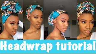 Head Wrap Tutorial With SHORT HAIR: 4 QUICK And EASY Styles ღ