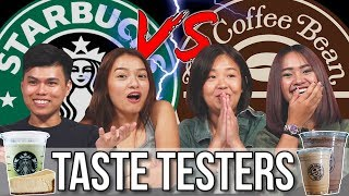 STARBUCKS VS COFFEE BEAN | Taste Testers | EP 112