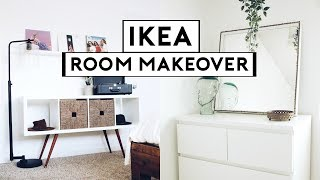 EXTREME BEDROOM MAKEOVER + TRANSFORMATION! IKEA HACKS 2019 | Nastazsa