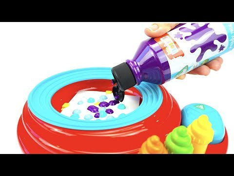 Необычная игрушка для детей, делаем узоры краской