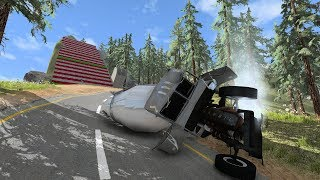 BeamNG Drive Vehicles Vs Steps and a ramp - Subscribe To Pewdiepie