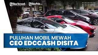 Investasi Bodong Rugikan 57 Ribu Member, Puluhan Mobil Mewah CEO EDCCash Disita,Begini Penampakannya