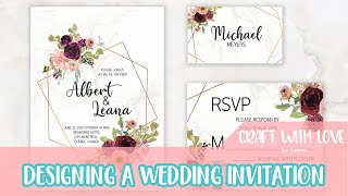 Designing a Wedding Invitation with RSVP and Place Card | Craft with Love by Leana