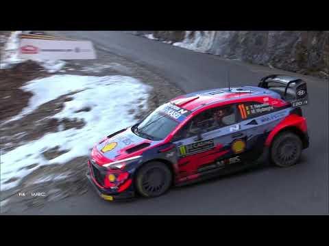 WRC2 2021 開幕戦のラリーモンテカルロ 日曜日のハイライト映像(1/2)