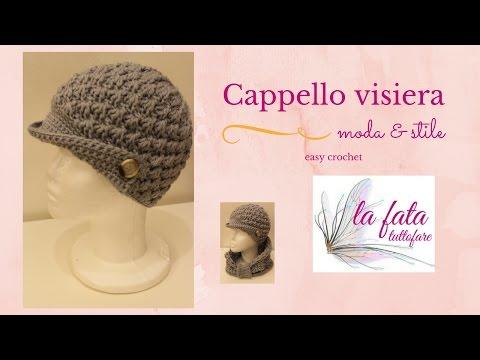 Tutorial: cappello visiera all'uncinetto