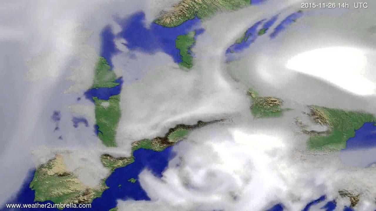 Cloud forecast Europe 2015-11-22