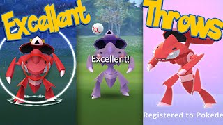 GENESECT Excellent Throws EVERY TIME! How To Excellent Throws When Catching GENESECT | Pokémon Go