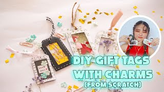 DIY Gift Tags With Charms - 4 Designs | Brasel Seng