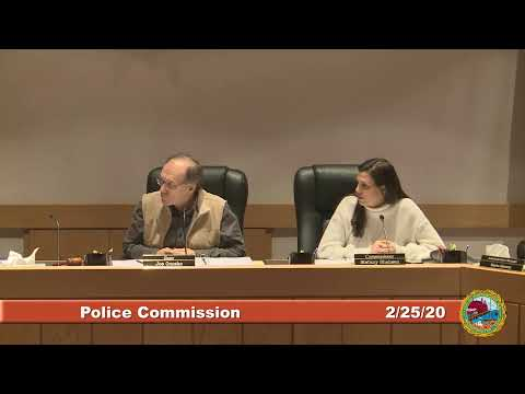 Police Commission 2.25.2020