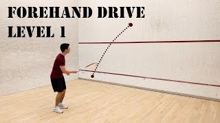 Squash - Forehand Drive - Level 1 - Beginner Solo Training