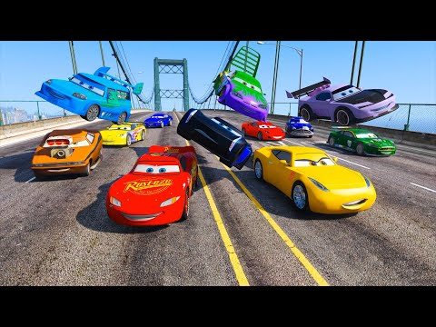 Street Race Cars 3 McQueen Cruz Ramirez Jackson Storm Boost Wingo DJ Nigel Gearsley and Friends