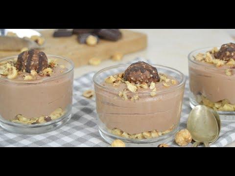 Vasitos de chocolate y avellanas ¡Deliciosos y muy fáciles de hacer!