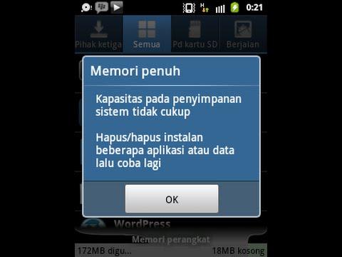 Video Mengatasi memory penuh saat install aplikasi di android
