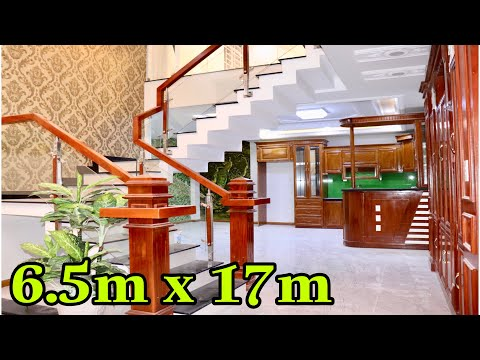 Nhà bán Gò Vấp. 6.5 x 17m Biệt thự Mini đẹp Lung Linh 3.5 lầu Nội thất đẹp Cao Cấp