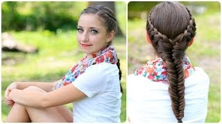 The Laced Fishtail Braid   Cute Girls Hairstyles
