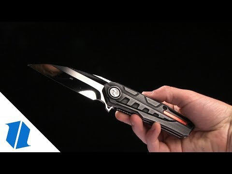 "Dew Hara Custom Raikiri Liner Lock Knife Etched Duralumin (3.75"" Mirror Polish)"