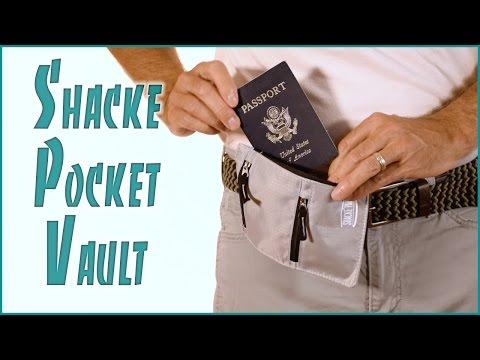 Pocket Vault Hidden Travel Belt Wallet RFID Blocker