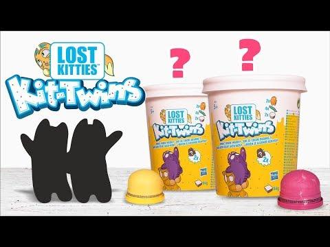 Kit-Twins: Zwei Kätzchen in einem Eisbehälter! Öffnen und Spielen!