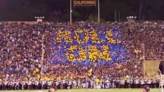 Cal versus Oregon Card Stunt Show