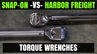 """Snap-on - VS - Harbor Freight ( ICON ) 1/2"""" Torque Wrenches"""