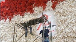 Persiapan Sidang Tahunan, Komplek Parlemen Dihias Bunga Merah Putih